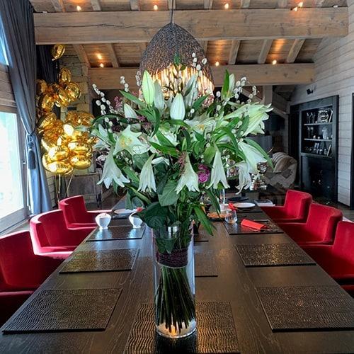 décoration établissement professionnel fleuriste courchevel
