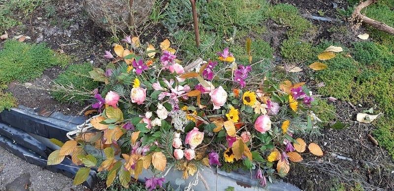 fleuriste deuil courchevel gerbe florale courchevel