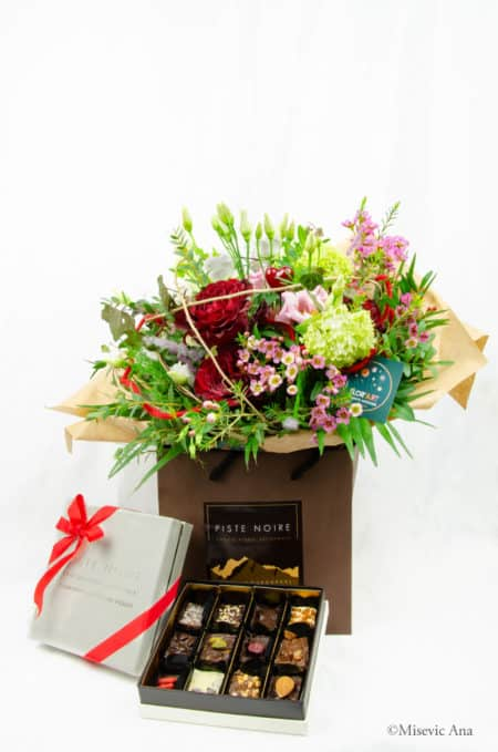 Love Me True bouquet fleur fleuriste courchevel